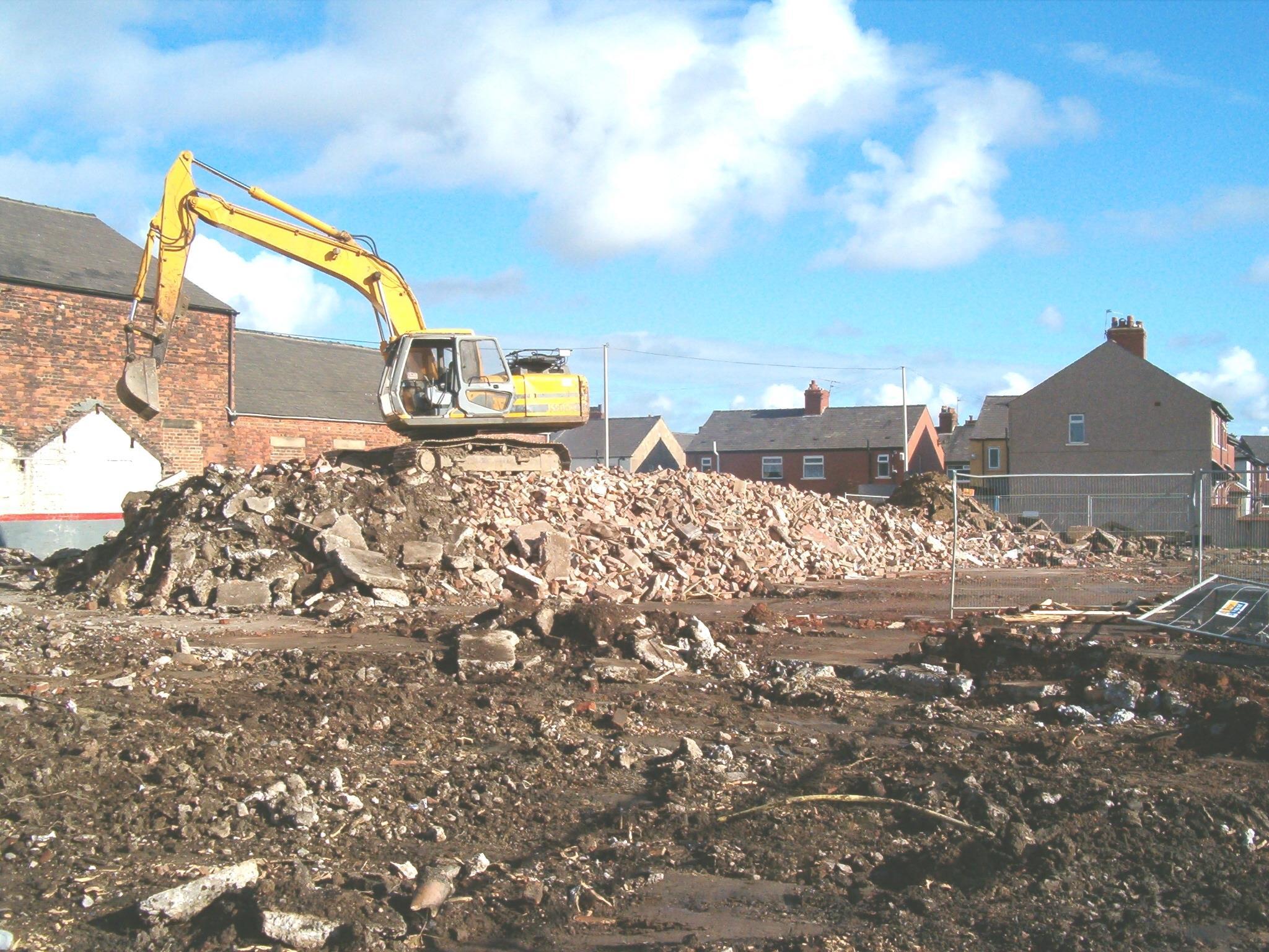 Blackpool factory ir demolition and groundworks ltd for Demolition wood for sale